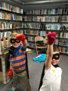 Super heroes at the Library!